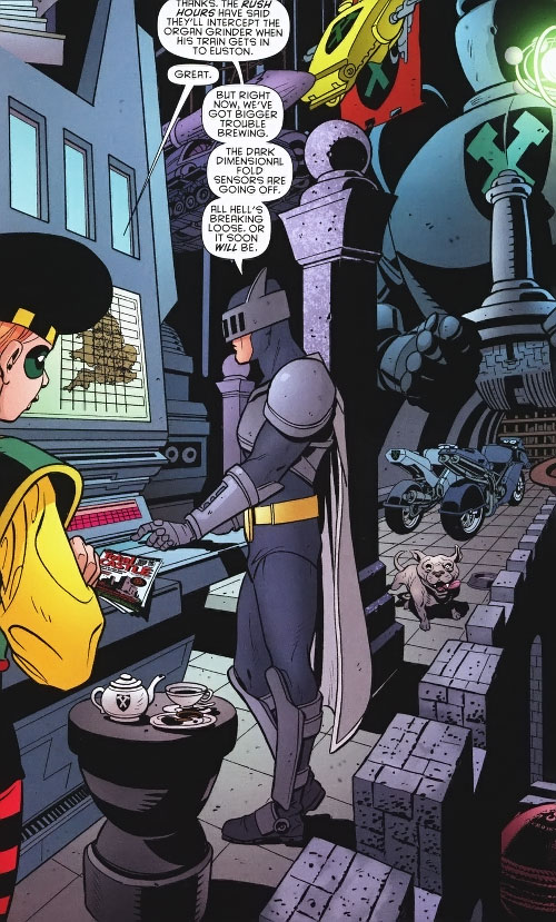 Knight and Squire (Batman allies) (DC Comics) in their cave