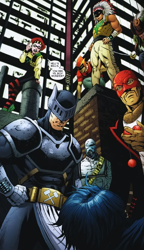 Knight and Squire (Batman allies) (DC Comics) and the International Club of Heroes