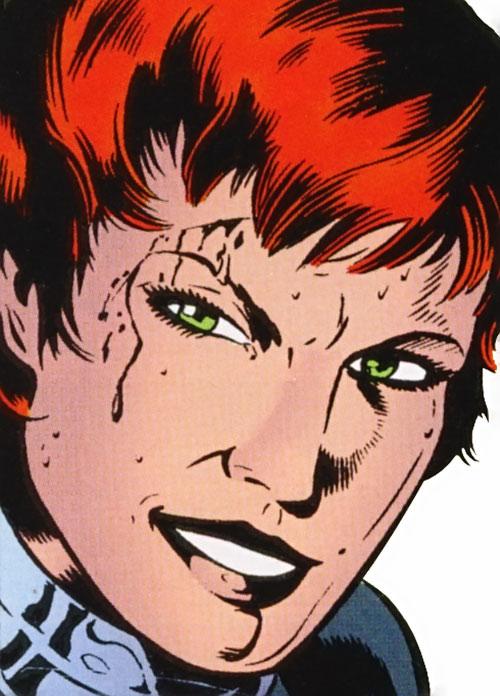 Knockout (Secret 6 / Superboy ) (DC Comics) face closeup