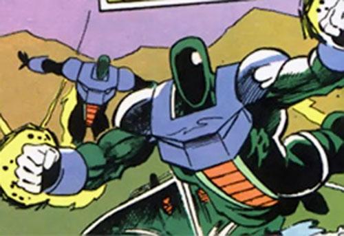 Kobra reptile soldiers (DC Comics) using jetpacks