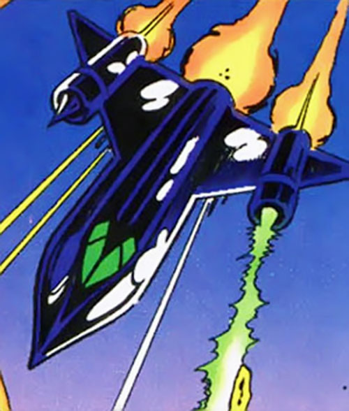 Kobra SR-71-like interceptor plane (DC Comics)