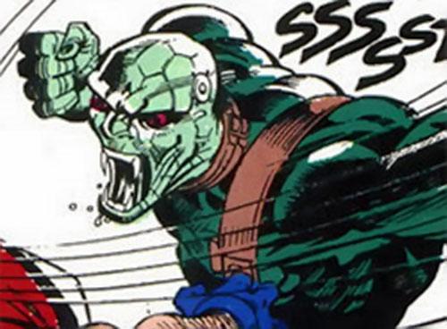 Kobra reptile soldier (DC Comics) unmasked