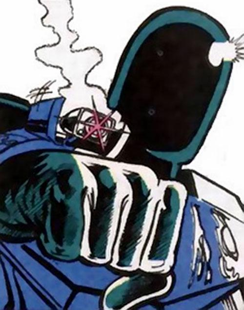 Kobra reptile soldier (DC Comics) with a forearm gun