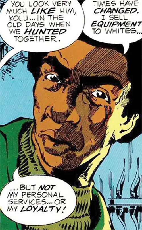 Kolu M'Beya (Manhunter DC Comics) closeup