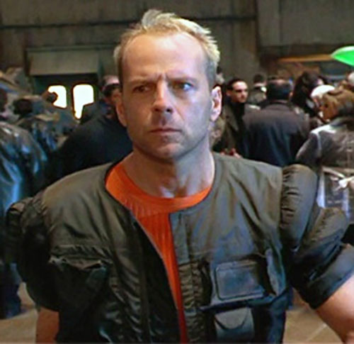 Korben Dallas in the Fifth Element