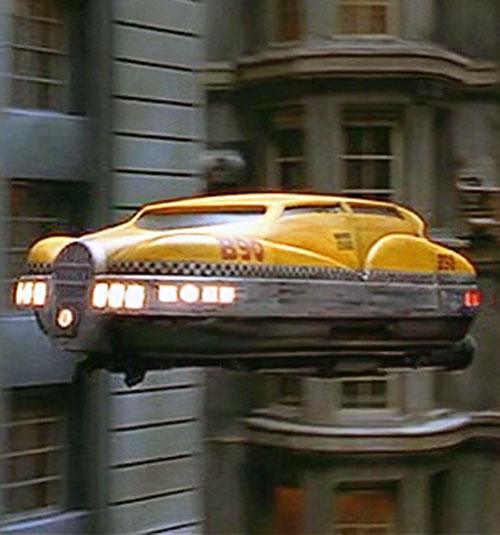 Korben Dallas' flying taxi