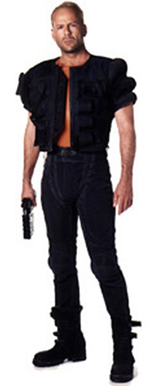 Korben Dallas in Jean-Paul Gaultier clothing