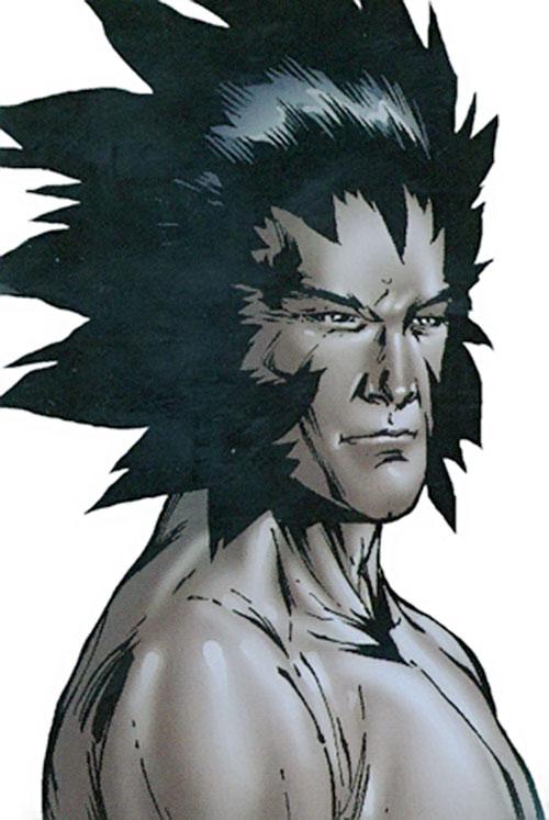 Korvus of the Starjammers (X-Men Marvel Comics) face closeup