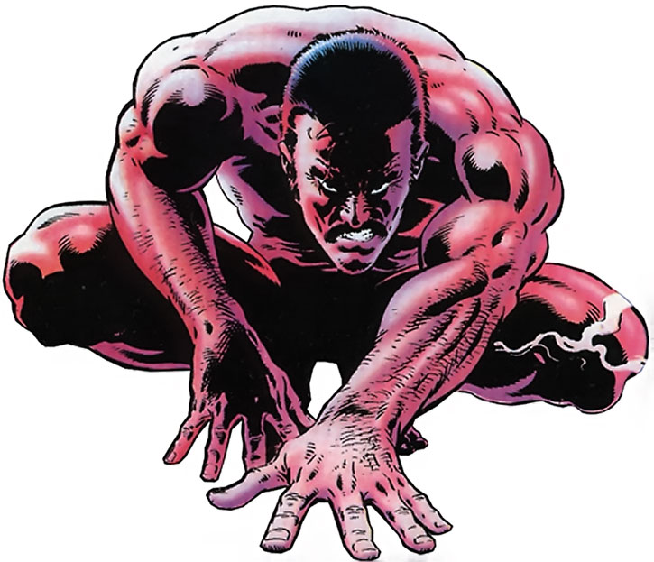 Kraven crouching in the nude