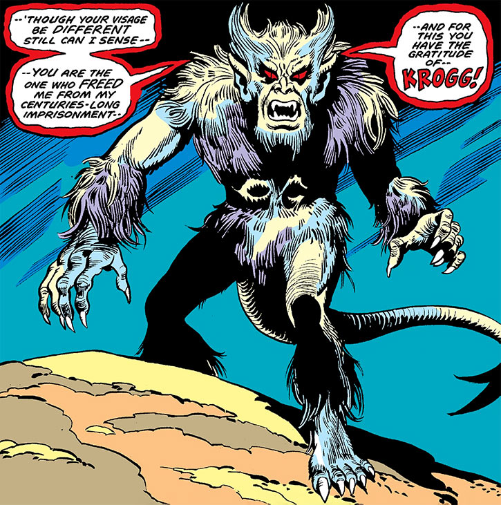 Krogg (Marvel Comics) (Werewolf by Night) dramatic entrance