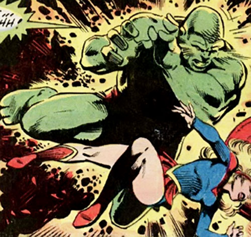 The Kryptonite Man II (Superman enemy) (DC Comics) vs. Supergirl