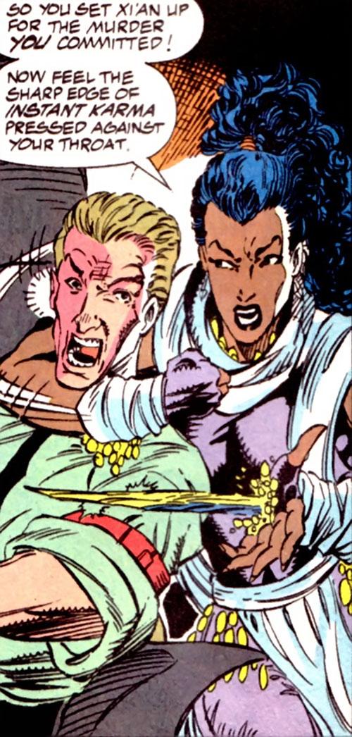 Krystalin of the X-Men 2099 (Marvel Comics) creating a crystal blade