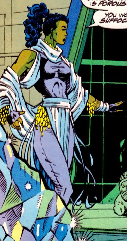 Krystalin of the X-Men 2099 (Marvel Comics) in her lavender costume