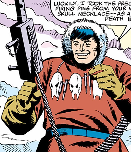 Kwinn the Eskimo - GI Joe - Marvel Comics - Necklace with skulls and firing pins