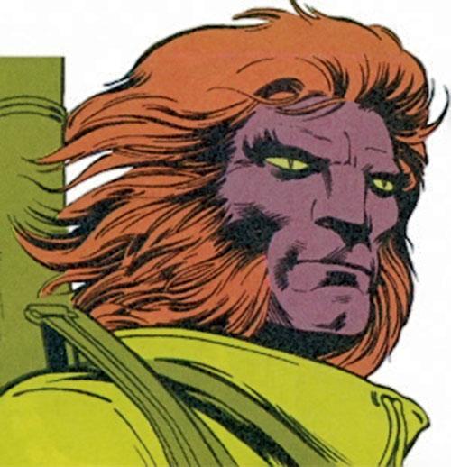 Kylun (Excalibur character) (Marvel Comics) face closeup