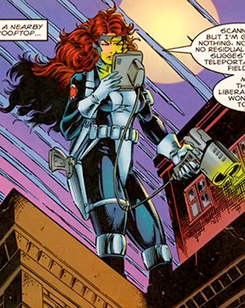 Kymberly Taylor of SHIELD (Punisher ally) (Marvel Comics) doing surveillance