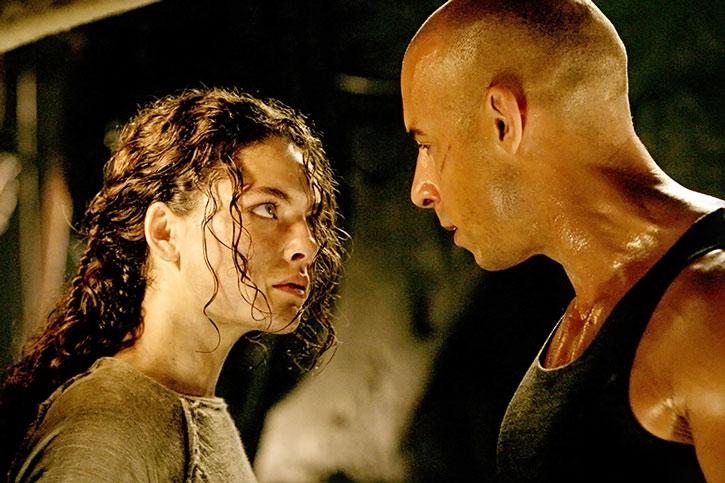 Kyra (Alexa Davalos) stares at Riddick