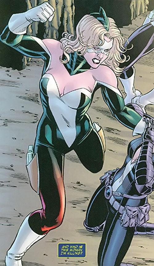 Lady Blackhawk of the Birds of Prey (DC Comics) as Queen Killer Shark