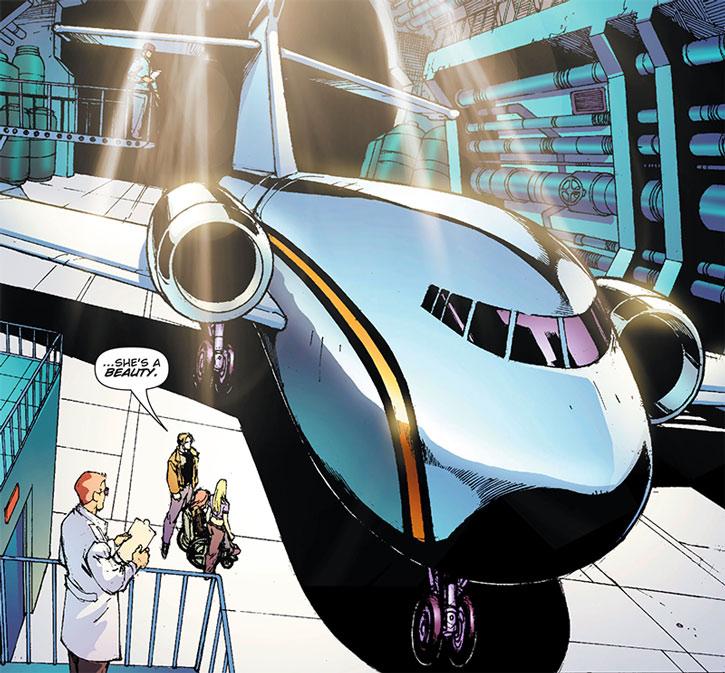 Lady Blackhawk (Zinda Blake)'s Aerie-1 corporate jet