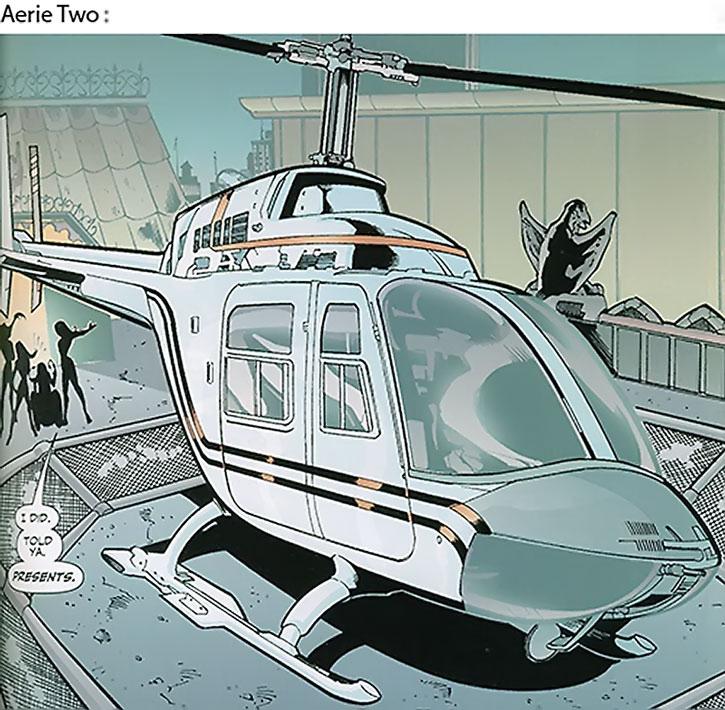 Lady Blackhawk (Zinda Blake)'s Aerie-2 helicopter