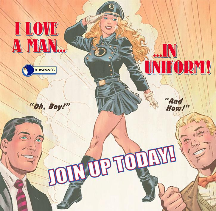 Lady Blackhawk (Zinda Blake) recruitment poster