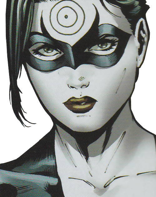 Lady Bullseye (Daredevil enemy) (Marvel Comics) face closeup