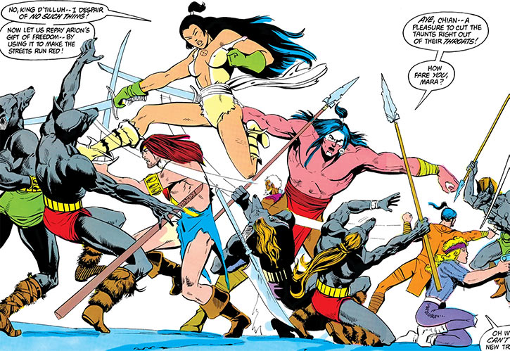 Lady Chian (DC Comics Arion) big fight