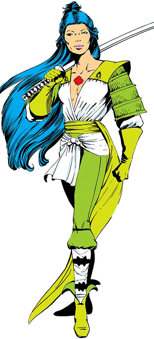 Lady Chian (DC Comics) from the Who's Who over a white background