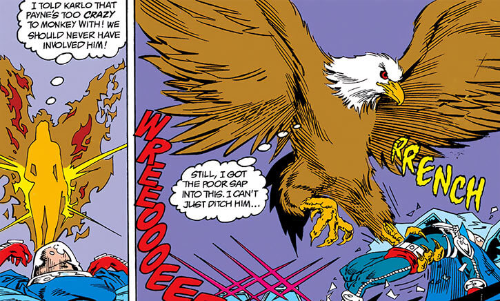 Lady Clay / Clayface 4 (DC Comics) turns into a giant eagle roc