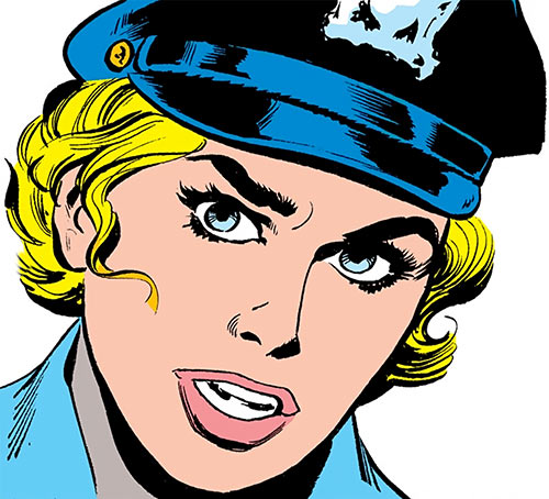 Lady Cop (DC Comics 1st issue special) face closeup