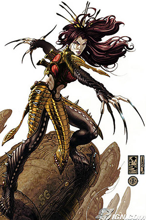 Lady Deathstrike (Wolverine enemy) (Marvel Comics) with long hair