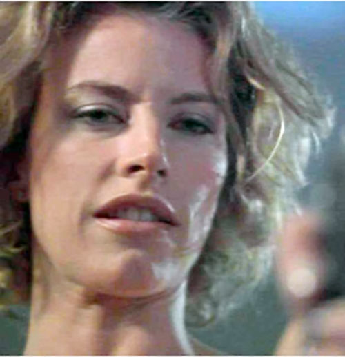 Jayne Ferre (Julie Dupage in Lady Jayne) face closeup