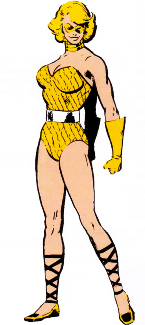 Lady Lark (Squadrom Supreme) from the 1983 Marvel Comics Handbook