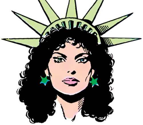 Lady Liberty of the Force of July (DC Comics) from the Who's Who - portrait