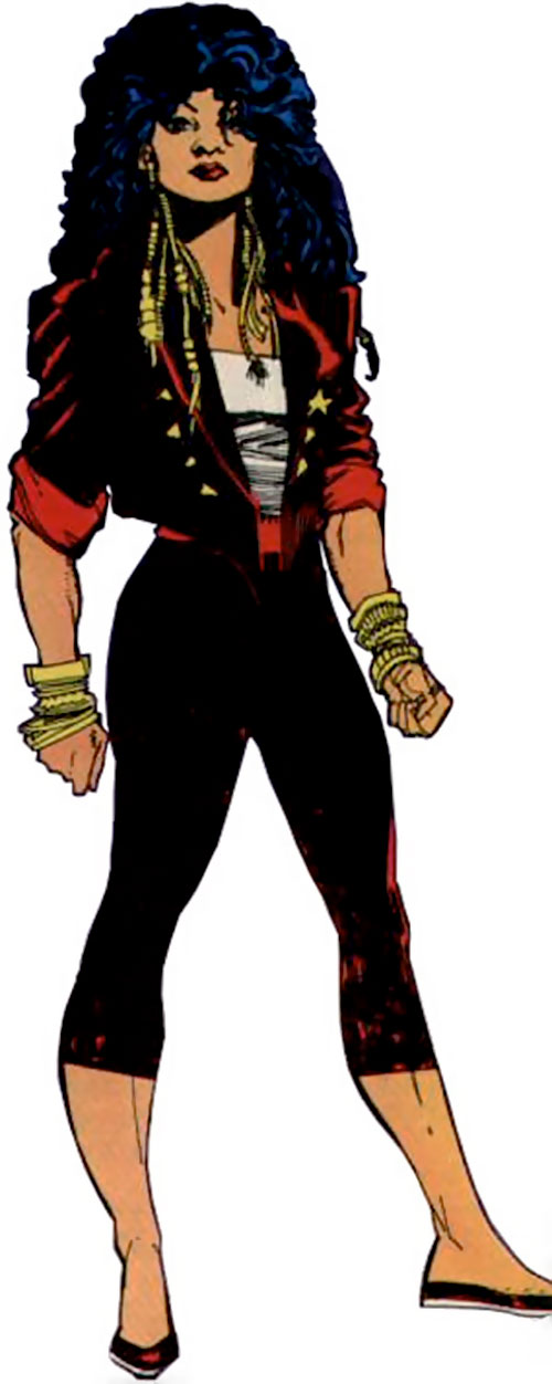 Lady Shiva (The Question) over a white background