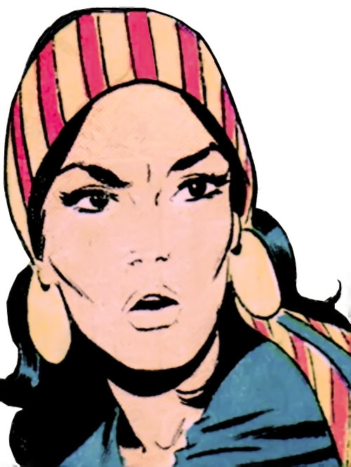 Lady Shiva (Richard Dragon early version) (DC Comics) face closeup