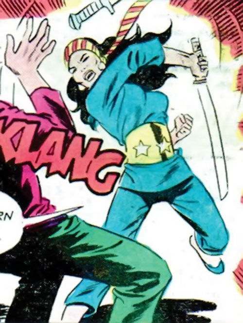 Lady Shiva (Richard Dragon early version) (DC Comics) swings her sword