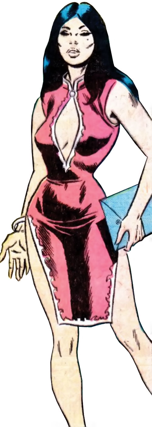 Lady Shiva (Richard Dragon early version) (DC Comics) in an Asian bar hostess dress