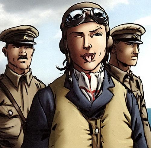 Lady Spitfire (Laure Chevalier) tire la langue