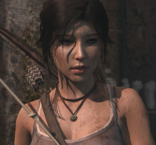 Lara Croft Tomb Raider (reboot 2013) distraught