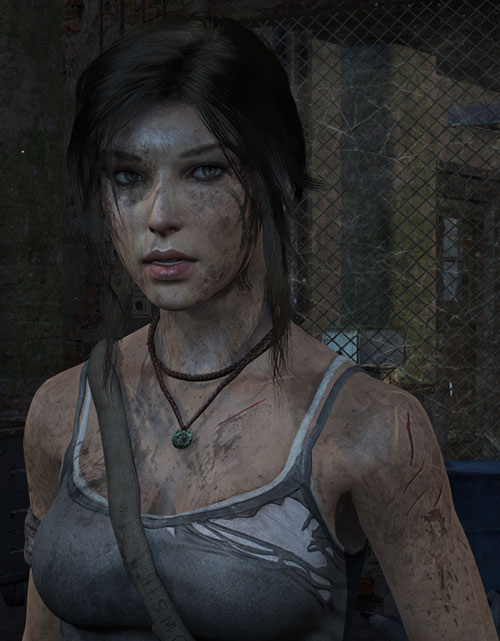 Lara Croft Tomb Raider (reboot 2013) dirty shredded clothes