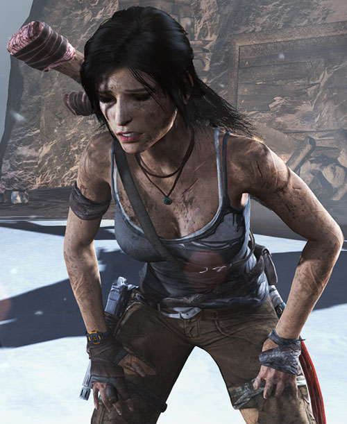 Lara Croft tomb raider (reboot 2013) catching her breath