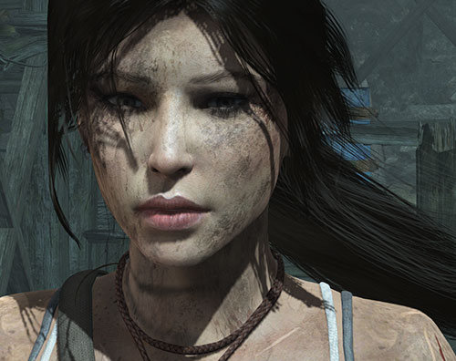 Lara Croft tomb raider (reboot 2013) dirt-caked face