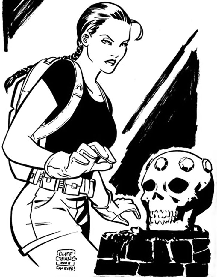 Lara Croft sketch by Cliff Chiang