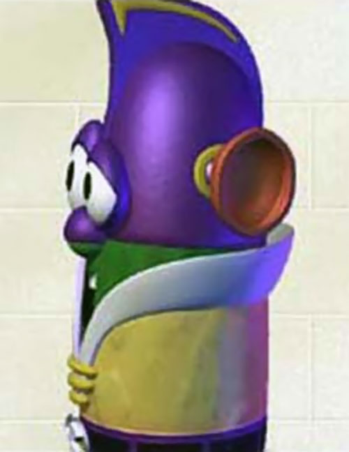 Larry the Cucumber (Veggie Tales) as Larry Boy, side view