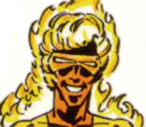 Laserfire (Villains & Vigilantes RPG) (Crisis at the Crusaders Citadel) color face closeup