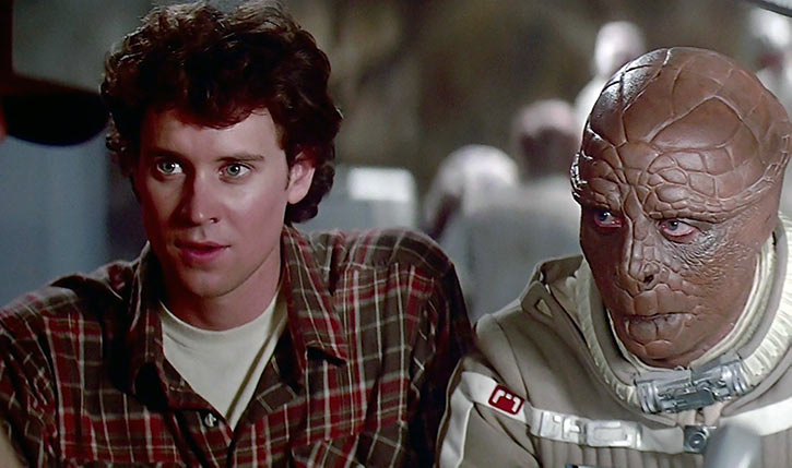 Last Starfighter movie - 1984 - Alex and Grig talking