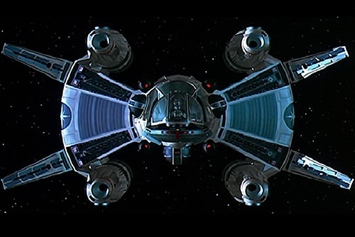 The Last Starfighter movie - Gunstar one preparing the death blossom