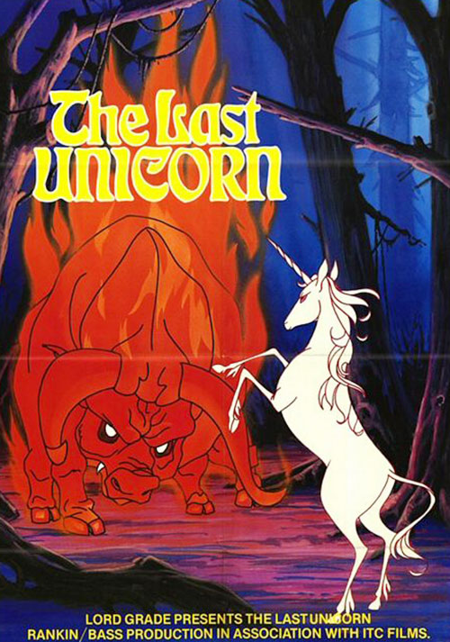 Last Unicorn (animated movie) older poster