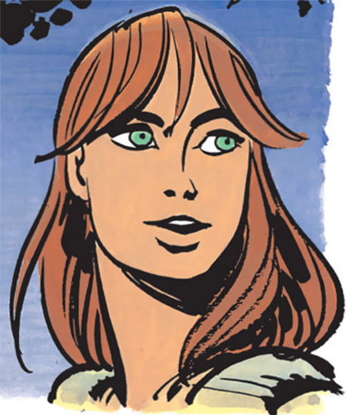 Laureline (Valerian graphic novels) face closeup